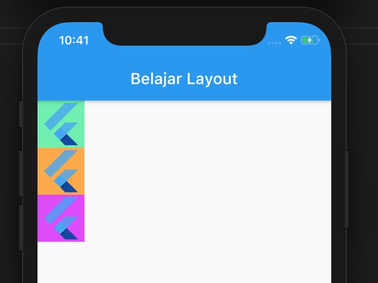 contoh penampakan column widget