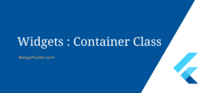 container widget flutter
