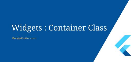 container widget flutter