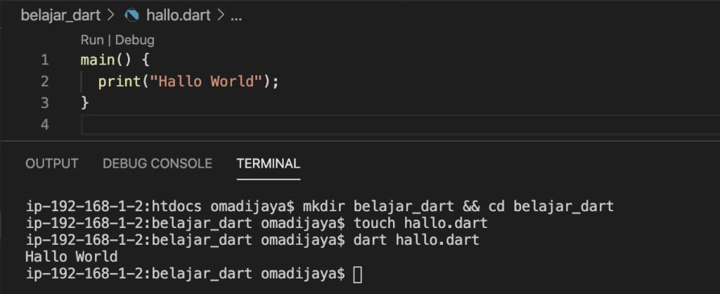 Data Type pada Dart