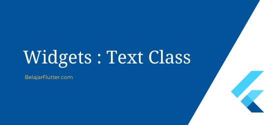 flutter text widget