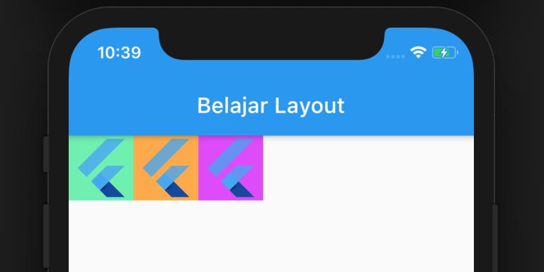 contoh penampakan row widget