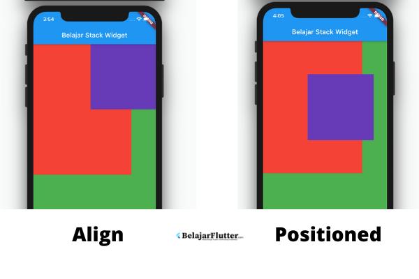 contoh posisi stack widget