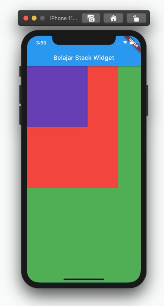 contoh tampilan stack widget